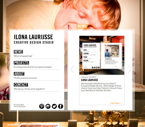 Homepage Ilona Laurijsse Web Design