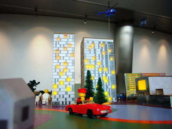 Maquette van speelgoed en lego