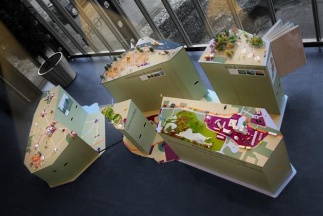 Reizende tentoonstelling Kaart van Flevoland