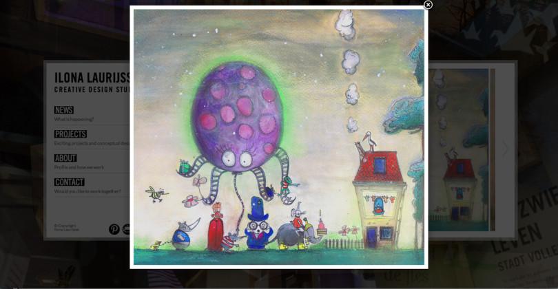 Birth card Ilona Laurijsse Web Design