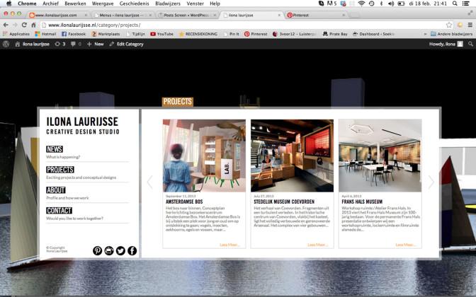 Projecten Ilona Laurijsse Web Design